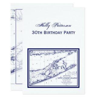 Long Island The Hamptons Map VC Card