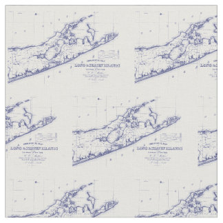Long Island The Hamptons Map VC Fabric