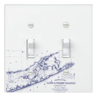 Long Island The Hamptons Map VC Light Switch Cover