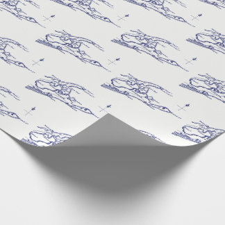 Long Island The Hamptons Map VC Wrapping Paper