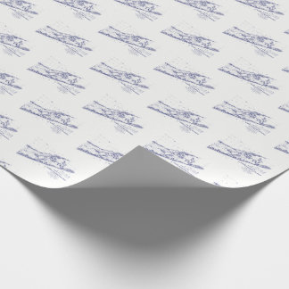 Long Island The Hamptons Map Wrapping Paper
