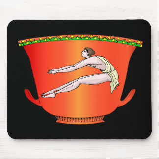Long jumper on ancient pottery mouse pad
