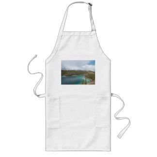 Long kitchen apron Emerald Lake
