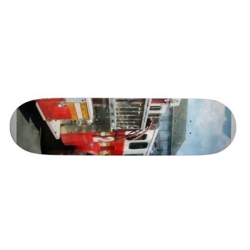 Long Ladder on Fire Truck Skate Board Decks