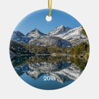 Long Lake, Little Lakes Valley, California Ceramic Ornament