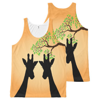 Long Lash Giraffes All-Over-Print Tank Top