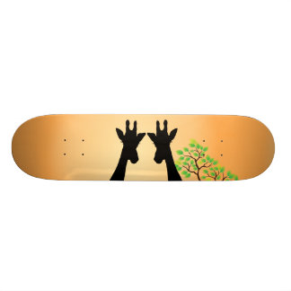 Long Lash Giraffes Skateboard Decks