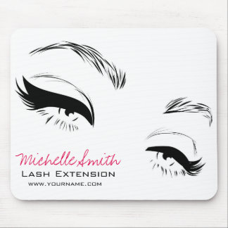 Long lashes Lash Extension Eyeliner branding Mouse Pad