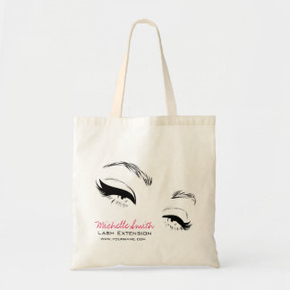 Long lashes Lash Extension Eyeliner branding Tote Bag
