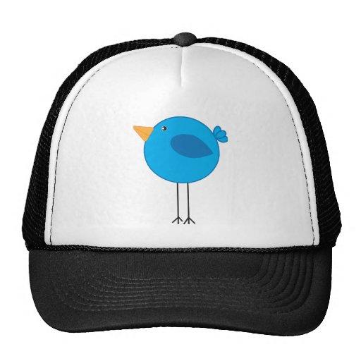 Long Legged Blue Bird Cartoon Mesh Hat
