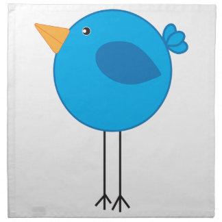 Long Legged Blue Bird Cartoon Cloth Napkins