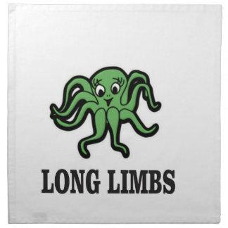 long limbs lady napkin