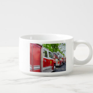 Long Line of Fire Trucks Bowl