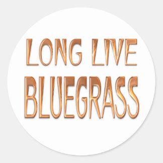 Long Live Bluegrass Classic Round Sticker