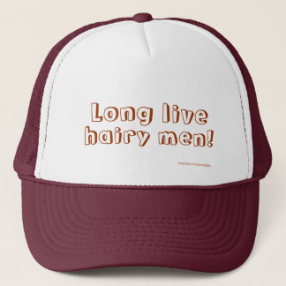 Long Live Hairy Men Customizable Hat Template