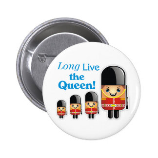 """""""Long Live the Queen!"""" Royal Soldier Button"""