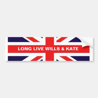 Long Live Wills & Kate Bumper Sticker