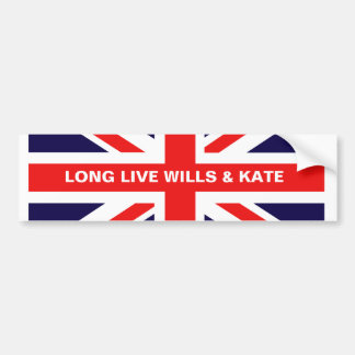Long Live Wills Kate Bumper Stickers