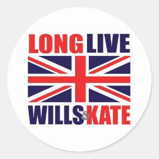 Long Live Wills & Kate Round Sticker