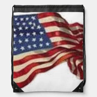 Long May She Wave - Flag Drawstring Bag
