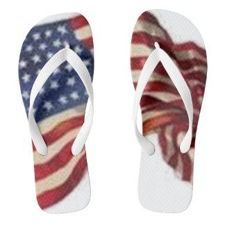 Long May She Wave - Flag Flip Flops