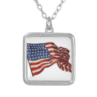 Long May She Wave - Flag Silver Plated Necklace