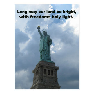 Long my our land be bright... postcard