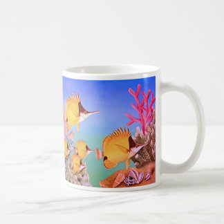 Long-nose Butterfly Fish Classic White Coffee Mug