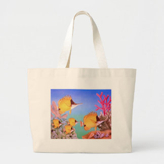 Long-nose Butterfly Fish Large Tote Bag