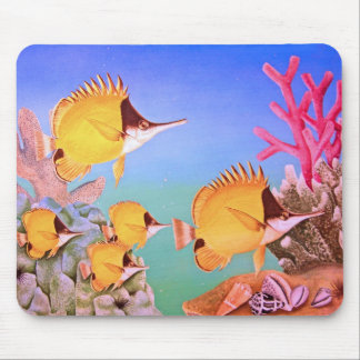 Long-nose Butterfly Fish Mouse Pad