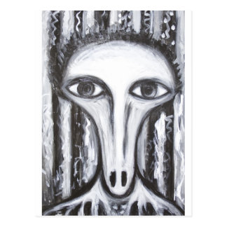 Long Nose Fortune-Teller(odd surrealism portrait) Postcard