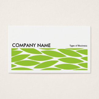 Long Picture 0217 - Abstract Leaves - Martian Grn Business Card