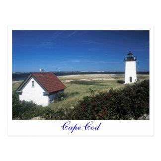 Long Point Lighthouse, Provincetown MA Cape Cod Postcard
