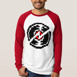 Long Red Sleeve Shirt With broken record Image