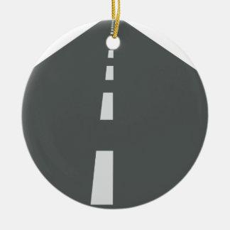 Long Road Ceramic Ornament