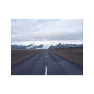 Long Road Iceland Canvas Print