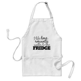 Long romantic walks to the fridge standard apron