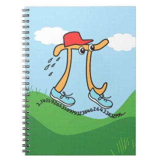 Long Running Pi - Pi Guy - Funny Pi Gift Note Books