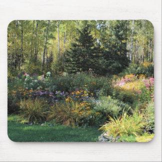 Long Shadows Fall Gardens Mouse Pad