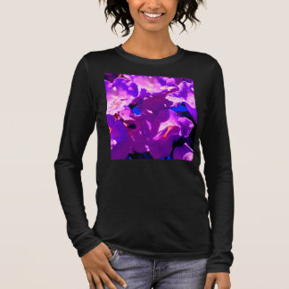 long sleeve black tee with unique floral design