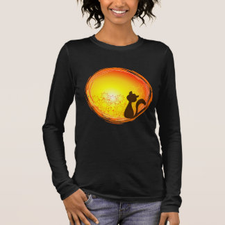 Long sleeve blouse with cat design watching the s long sleeve T-Shirt