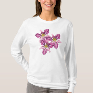 Long sleeve Daylily Trio T-shirt