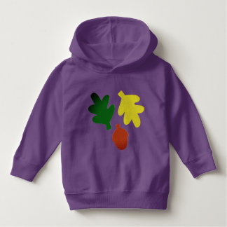 Long-sleeve Hoodie T-Shirt with Leaves
