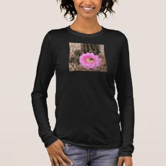 Long Sleeve Shirt Pink Cactus Flower