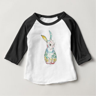 Long Sleeve Stripy Rabbit Baby Tshirt