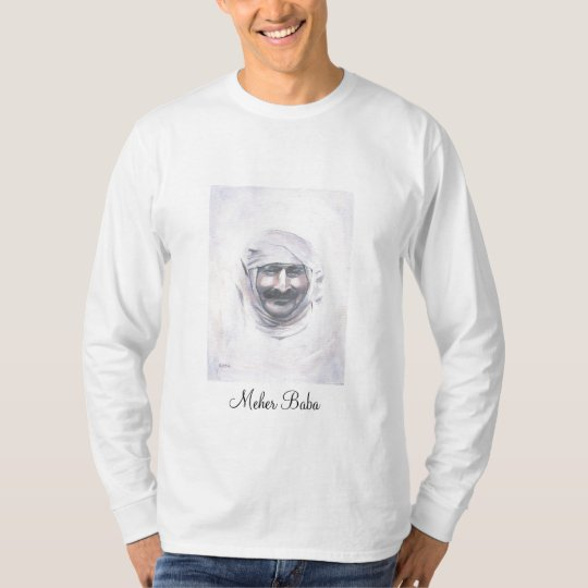 long sleeve t-shirt Meher Baba with turban