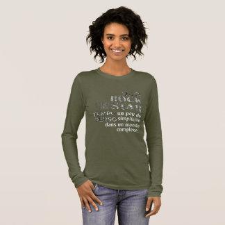 Long sleeve tee-shirt khaki woman Prints Long Sleeve T-Shirt