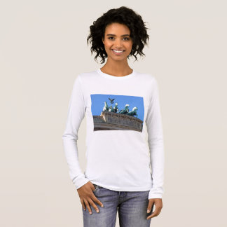 Long-Sleeve Women's Shirt with Brandenburg Gate