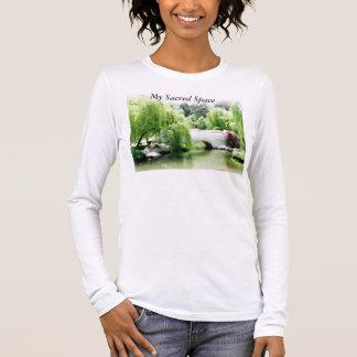 Long Sleeve Yoga T-Shirt, My Sacred Space T-Shirt