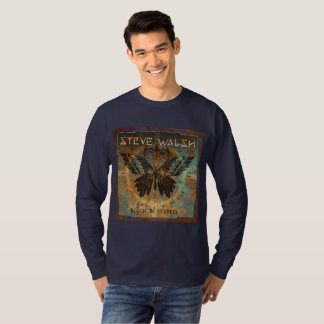 Long sleeved Black Butterfly Men's T-shirt